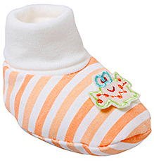 Cute Walk Baby Booties - Orange