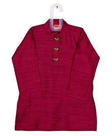 Raghav Cotton Silk Kurta - Rasberry