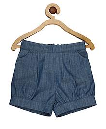 My Lil Berry Elasticated Denim Shorts - Blue
