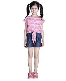 My Lil Berry Cap Sleeves Printed Jumpsuit - Pink & Black