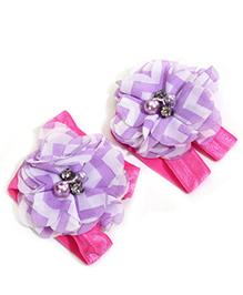 NeedyBee Flower First Walkers Barefoot Sandals - Purple
