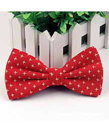 Wow Kiddos Printed Bow Tie - Red