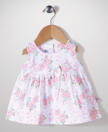 ToffyHouse Floral Print Frock - White