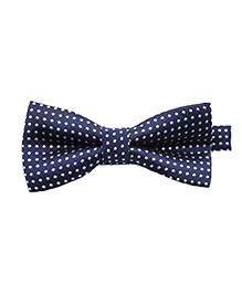 Wow Kiddos Printed Bow Tie - Blue & White