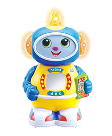 Huile Toys Space Doctor Robot With Music And Light - Blue And Yellow