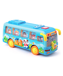 Huile Toys Shaking School Bus With Light And Music - Blue