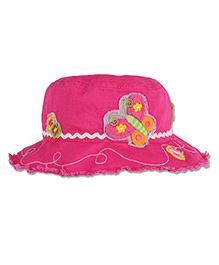 Stephen Joseph Bucket Hat Butterfly Patch - Pink