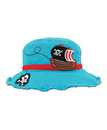 Stephen Joseph Bucket Hat Pirate Patch - Blue