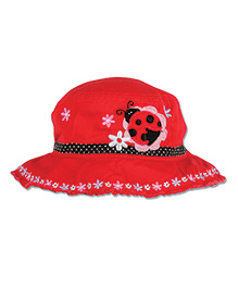 Stephen Joseph Bucket Hat Ladybug Patch - Red