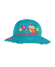 Stephen Joseph Bucket Hat Owl Patch - Sea Green