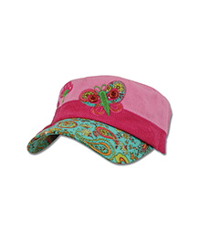 Stephen Joseph Signature Collection Cap Butterfly - Pink And Green