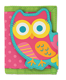 Stephen Joseph Wallet Owl - Pink And Green