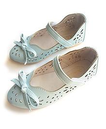 Milonee Elegant Cut Work Shoes - Light Blue