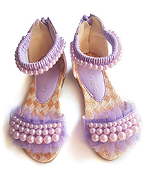 Milonee Pearly Paradise Party Sandals - Purple