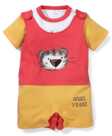 Wonderchild 2 Piece Gallace Romper & T-Shirt Set For Boys - Red White & Yellow