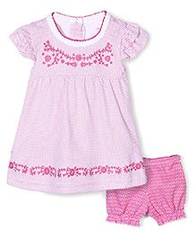 Wonderchild Dot Print Dress & Bloomer Set - Pink