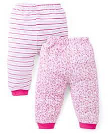 Babyhug Leggings Pack of 2 Multi Print - White Pink