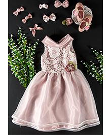 Little Coogie Floral Party Dress - Light Purple