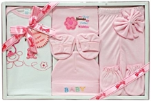 Montaly Baby Gift Set - Flower Print Pink