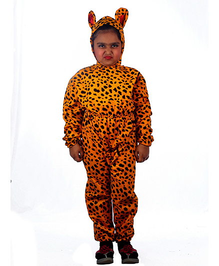 SBD Wild Leopard Fancy Dress Costume For Kids - Brown