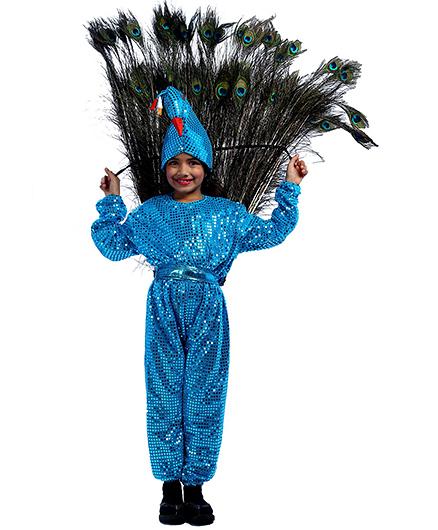 SBD Peacock Fancy Dress Costume For Kids - Blue