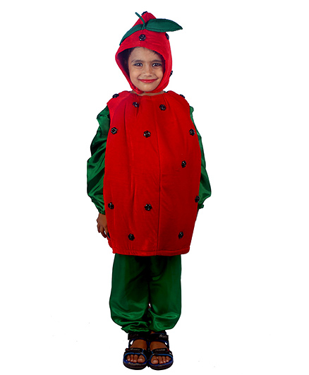 SBD Strawberry Fruit Fancy Dress Costume - Red