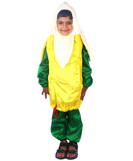 SBD Banana Fruit Fancy Dress Costume - Green And Yellow