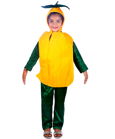 SBD Mango Fruit Fancy dress costume for kids Yellow unisex M(4-6yrs) Velvet