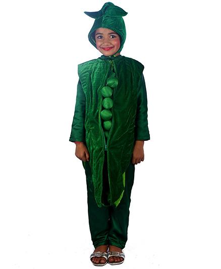 SBD Green Peas Vegetable Fancy Dress Costume - Green