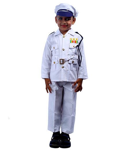 SBD Navy Community Helper Fancy Dress Costume - White