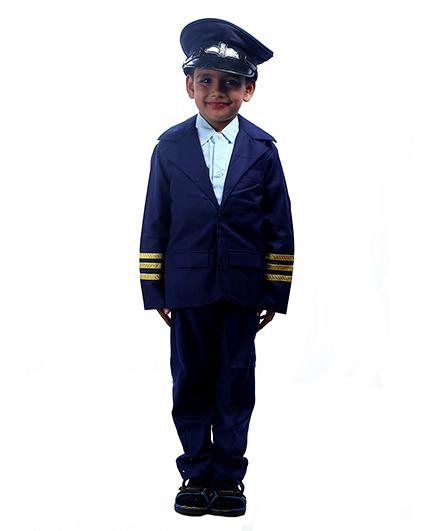 SBD Pilot Community Helper Fancy Dress Costume - Navy Blue And White