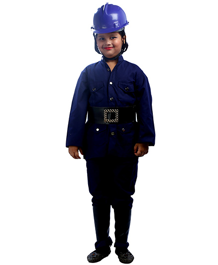 SBD Fireman Community Helper Fancy Dress Costume - Navy Blue