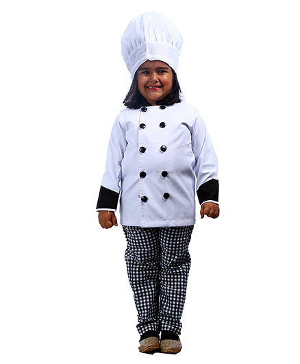 SBD Chef Community Helper Fancy Dress Costume - White
