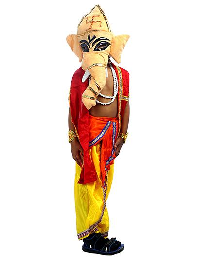 SBD Lord Ganesh Mythological Fancy Dress Costume - Multicolor