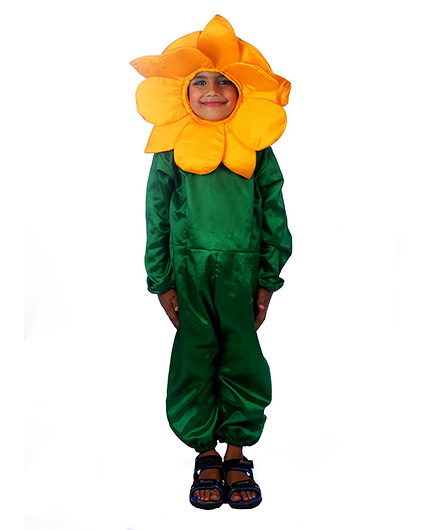 SBD Sun Flower Flower Fancy Dress Costume - Yellow And Green