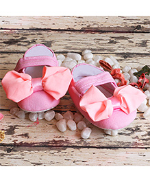 D'chica Little Doll Shoes With Bow - Pink