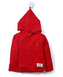 Babyhug Hooded Sweatshirt - Red