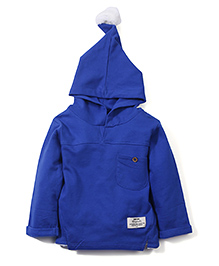 Babyhug Hooded Sweatshirt - Blue