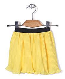 Chic Girls Flared Skirt - Yellow