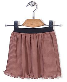 Chic Girls Flared Skirt - Brown