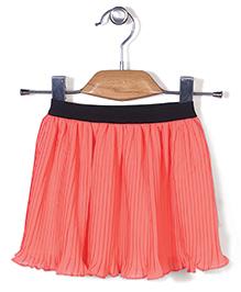 Chic Girls Flared Skirt - Orange