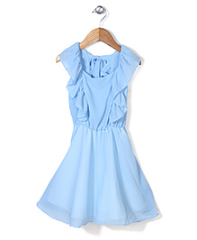 Chic Girls Fit & Flare Dress - Blue