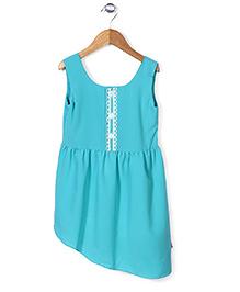 Chic Girls Sleeveless Dress - Blue