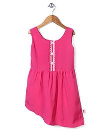Chic Girls Sleeveless Dress - Pink