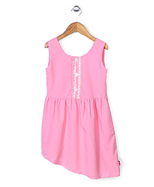 Chic Girls Sleeveless Dress - Light Pink