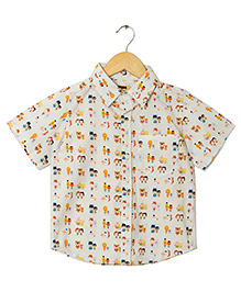 Hugsntugs Super Hero Print Shirt - Multicolour