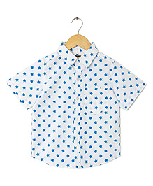 Hugsntugs Star Print Shirt - White