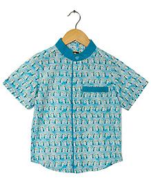 Hugsntugs Amazing Unicorn Print Shirt - Blue