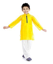 Little Pockets Store Stylish Kurta & Pajama Set - Yellow