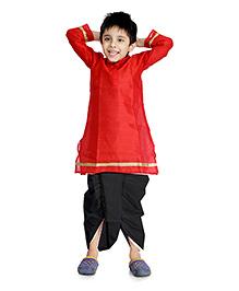 Little Pockets Store Dhoti & Kurta Set - Red